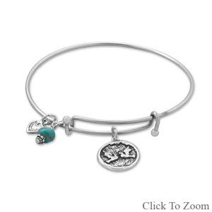 Expandable Multicharm Love Bangle Bracelet 23416